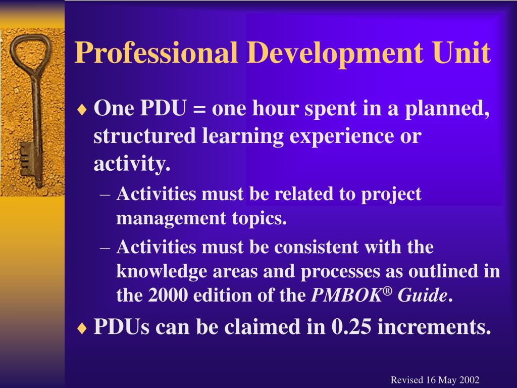 Professional Development Unit