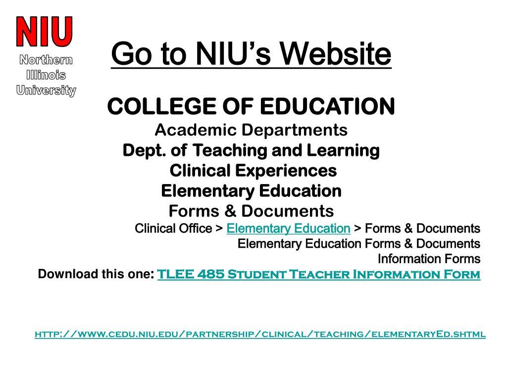 Go to NIU's Website