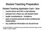student teaching preparation