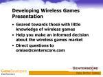 developing wireless games presentation