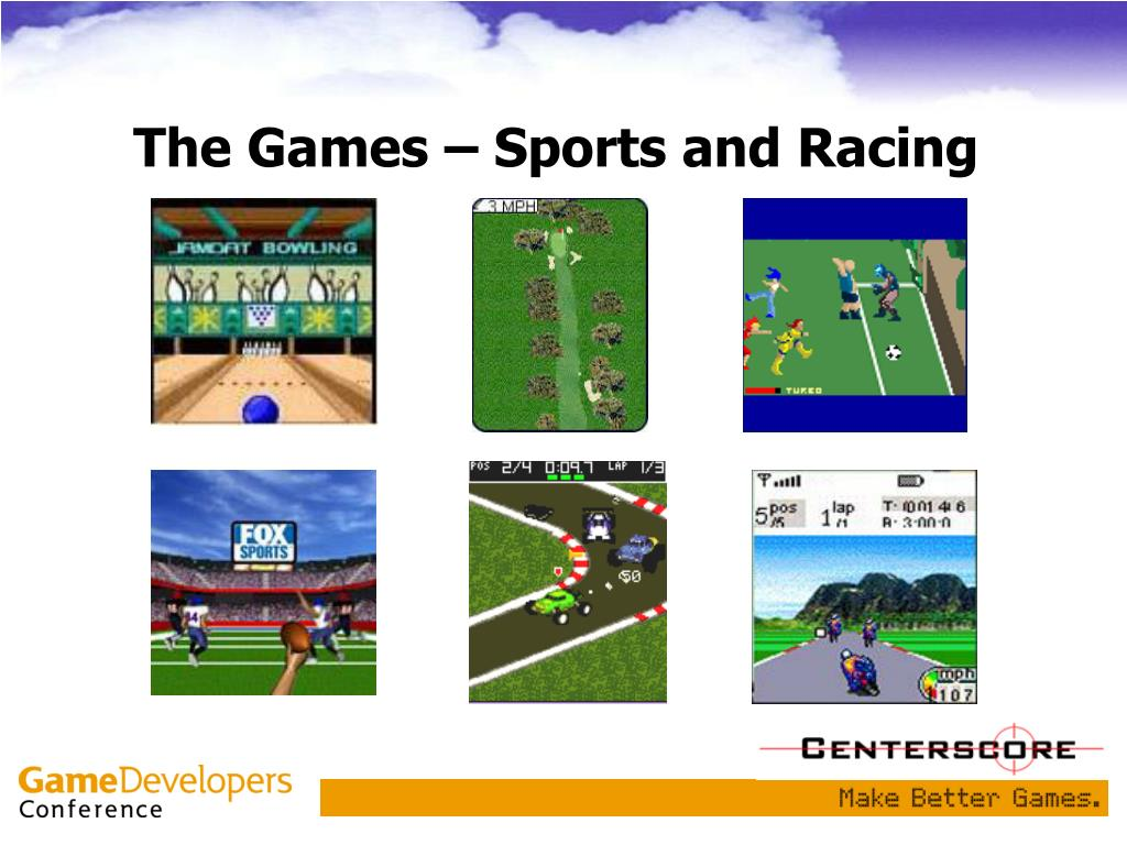 The Games – Sports and Racing