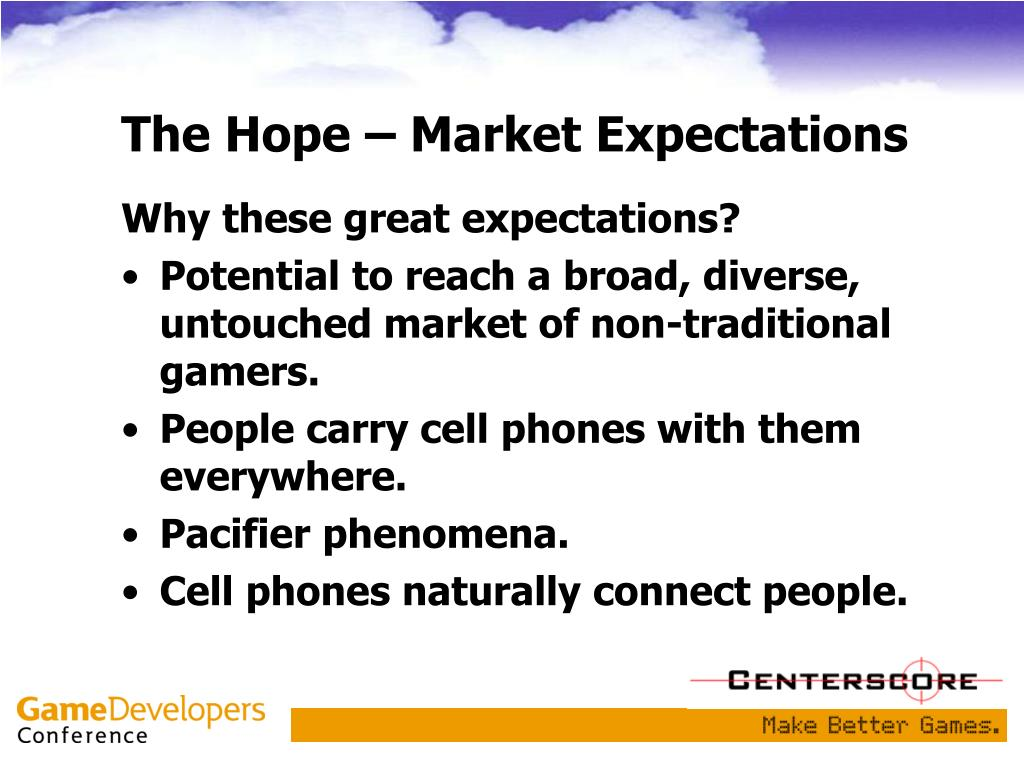 The Hope – Market Expectations