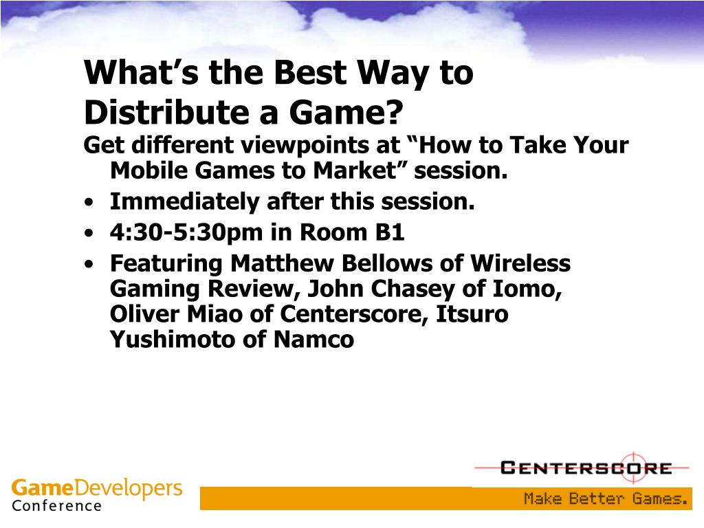 What's the Best Way to Distribute a Game?