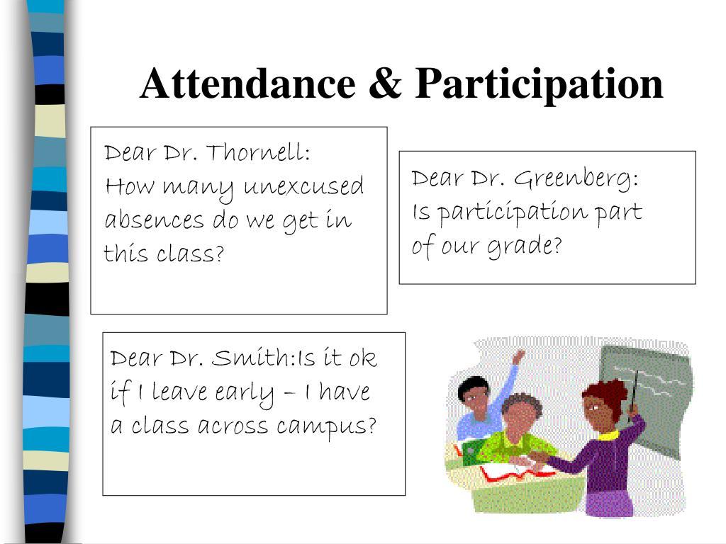 Attendance & Participation