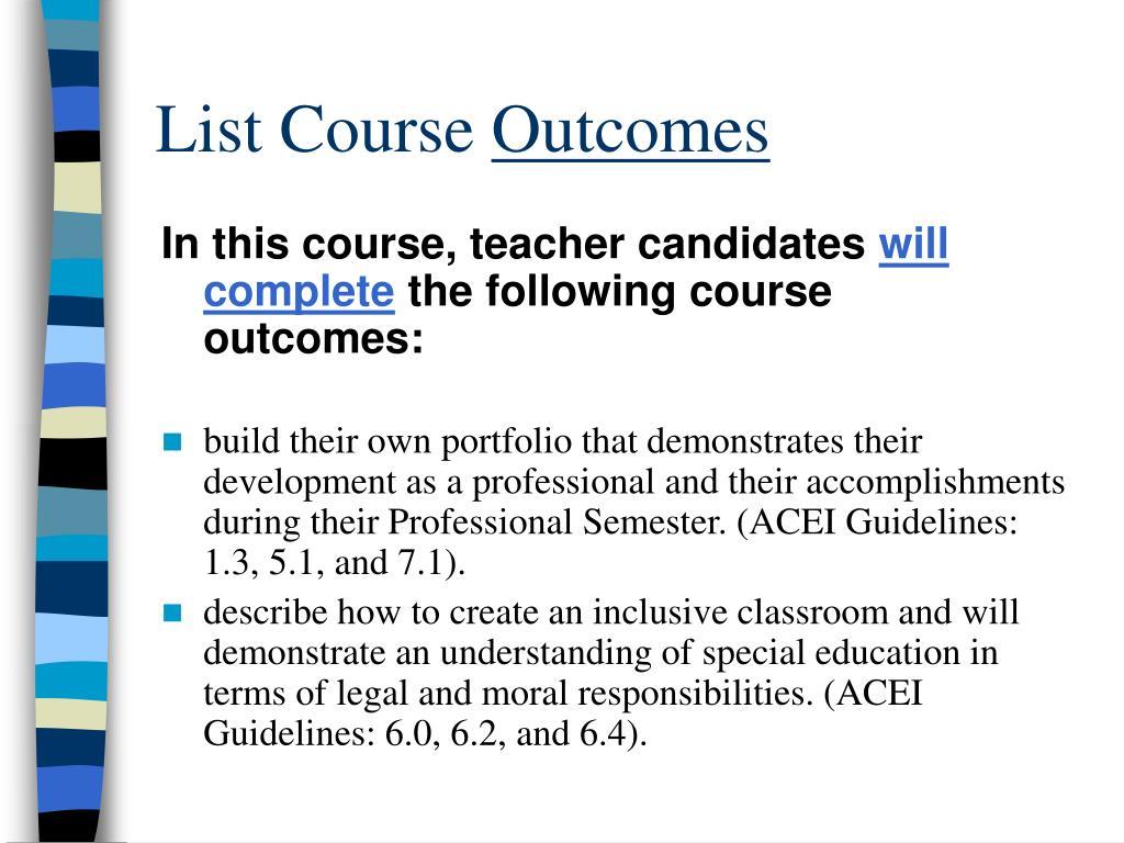 List Course