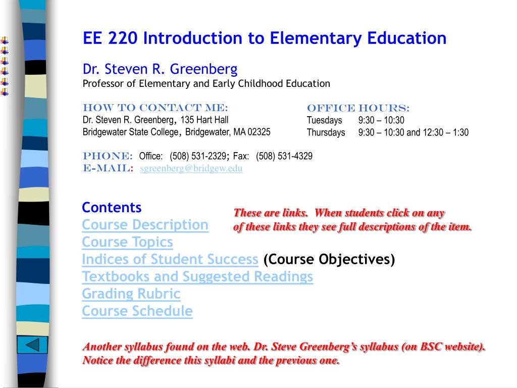 EE 220 Introduction to Elementary Education