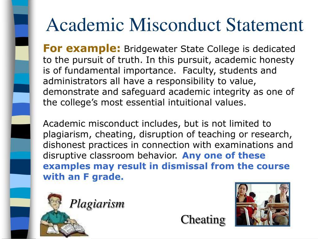 Academic Misconduct Statement