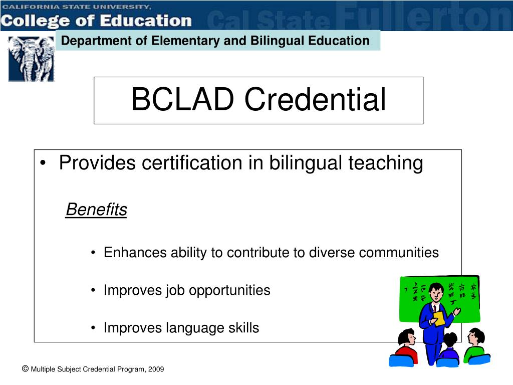 Provides certification in bilingual teaching