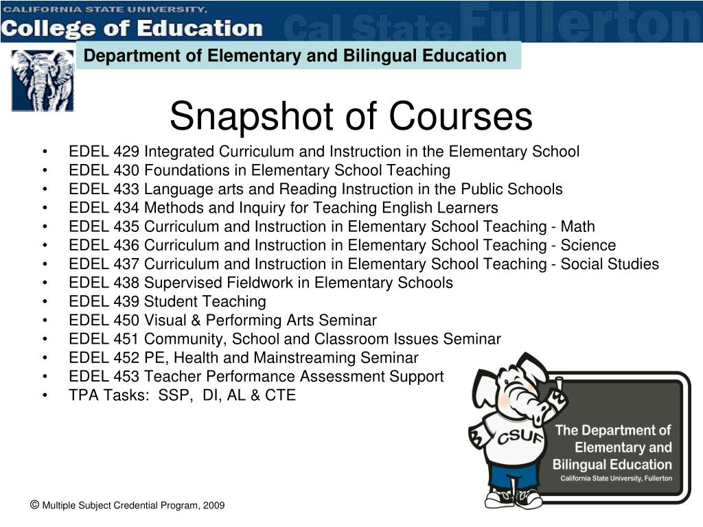 EDEL 429 Integrated Curriculum and Instruction in the Elementary School