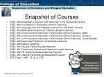 snapshot of courses
