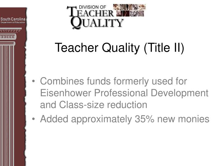 Teacher quality title ii