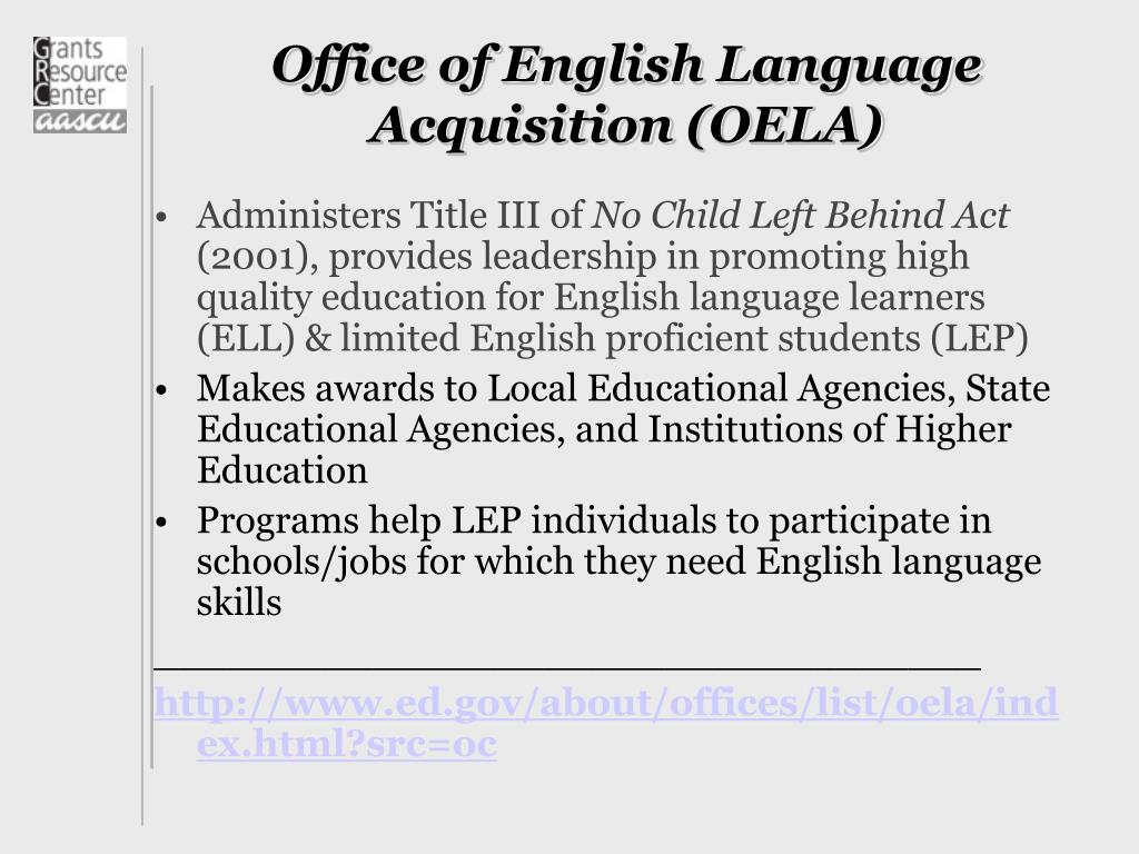 Office of English Language Acquisition