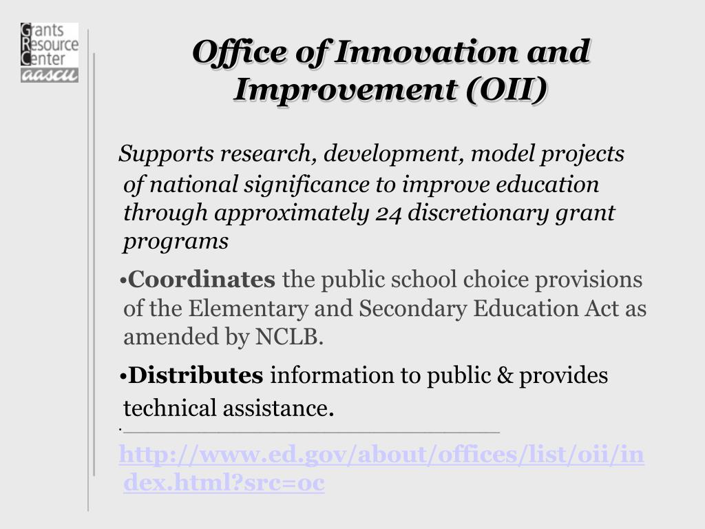 Office of Innovation and Improvement (OII)