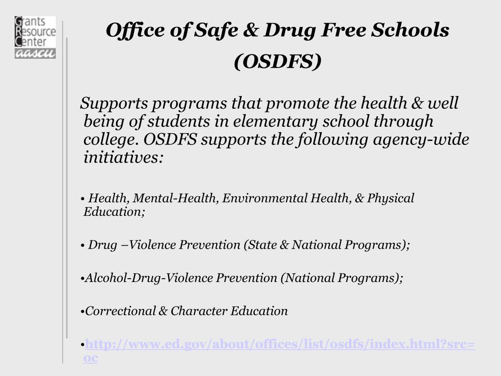 Office of Safe & Drug Free Schools (OSDFS)