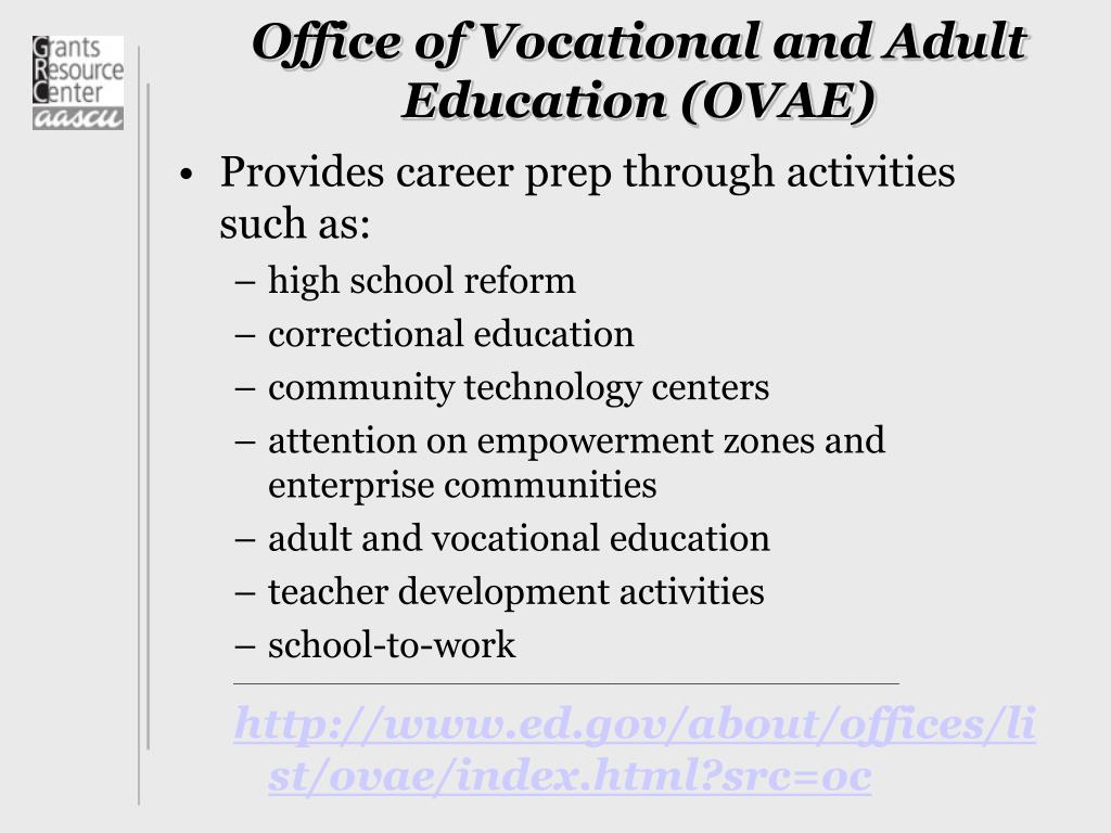 Office of Vocational and Adult Education (OVAE)