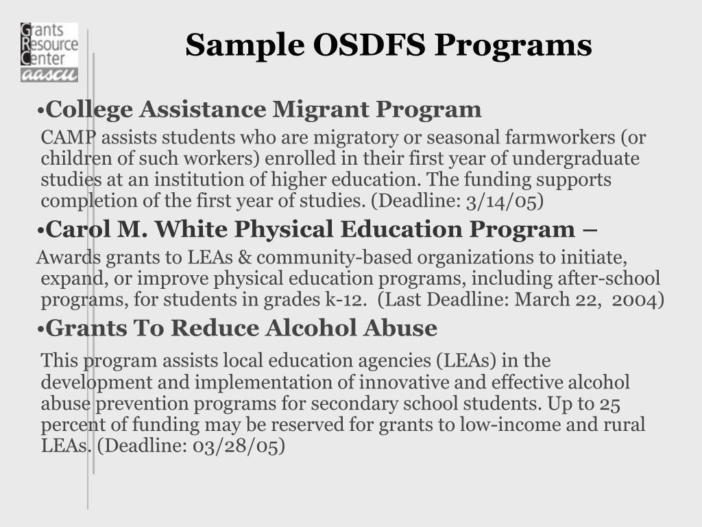 Sample OSDFS Programs
