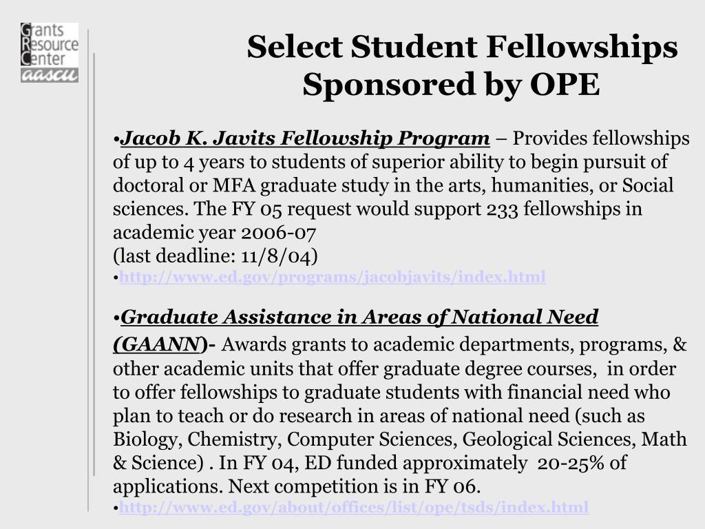 Select Student Fellowships