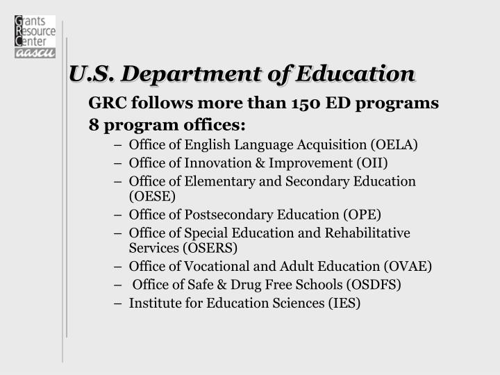 U s department of education