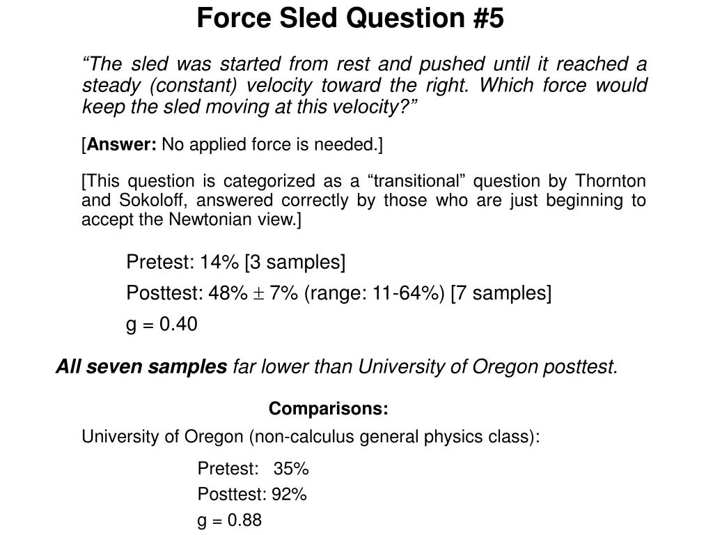 Force Sled Question #5