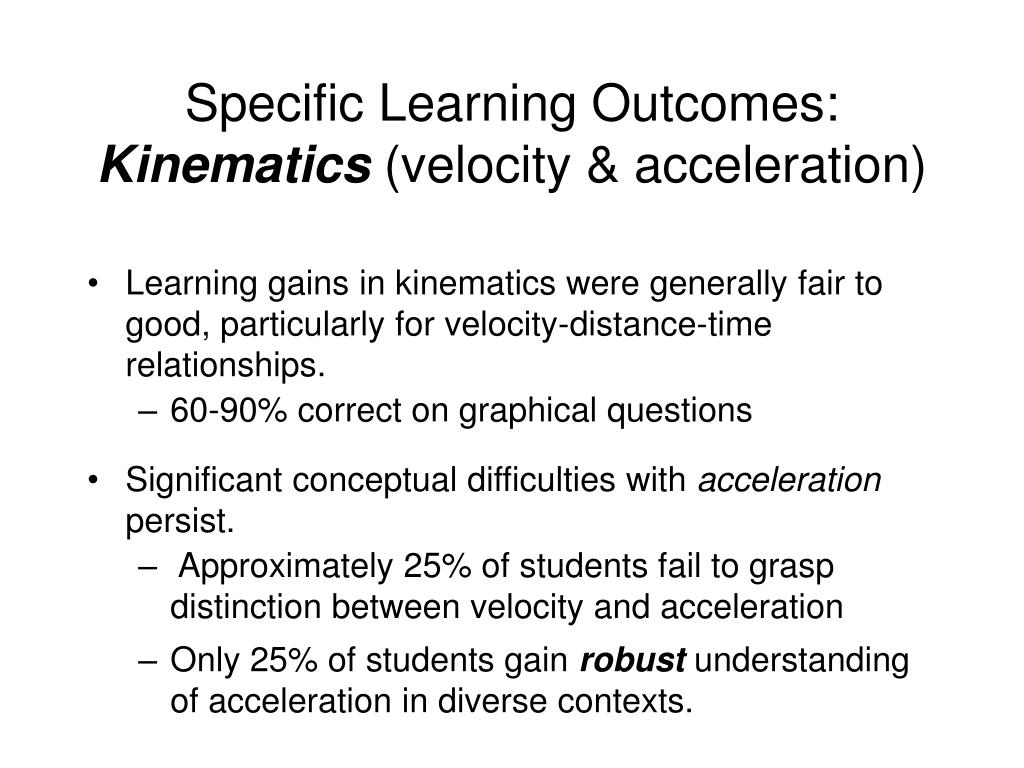 Specific Learning Outcomes: