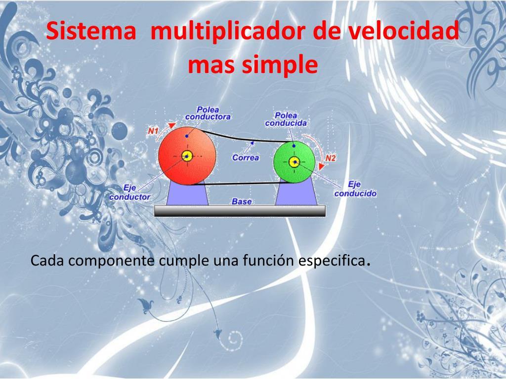 Sistema  multiplicador de velocidad mas simple