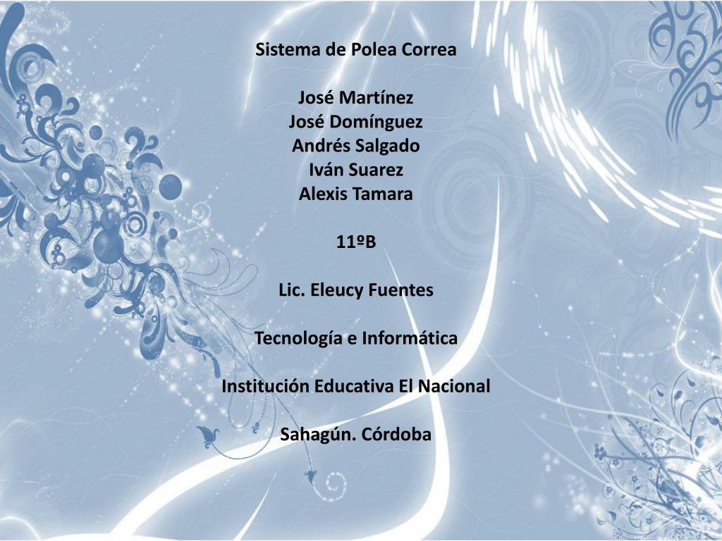 Sistema de Polea Correa