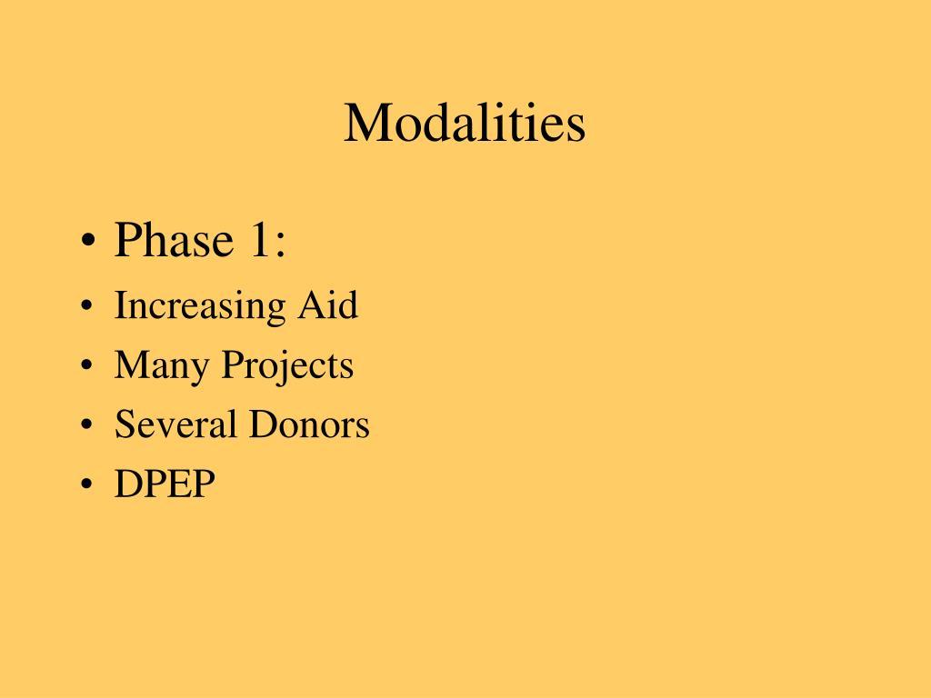Modalities