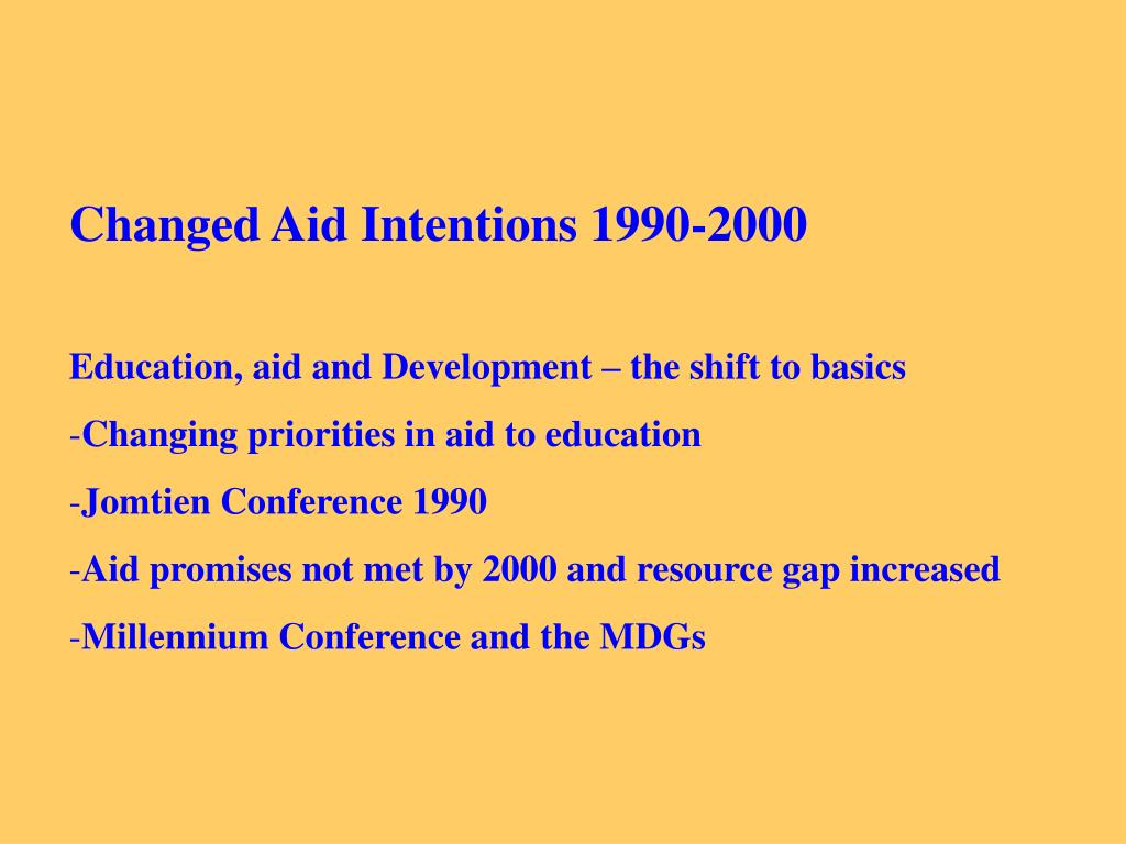 Changed Aid Intentions 1990-2000