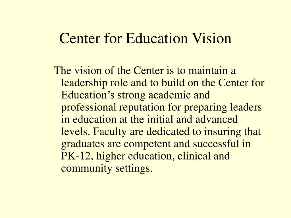 Center for Education Vision