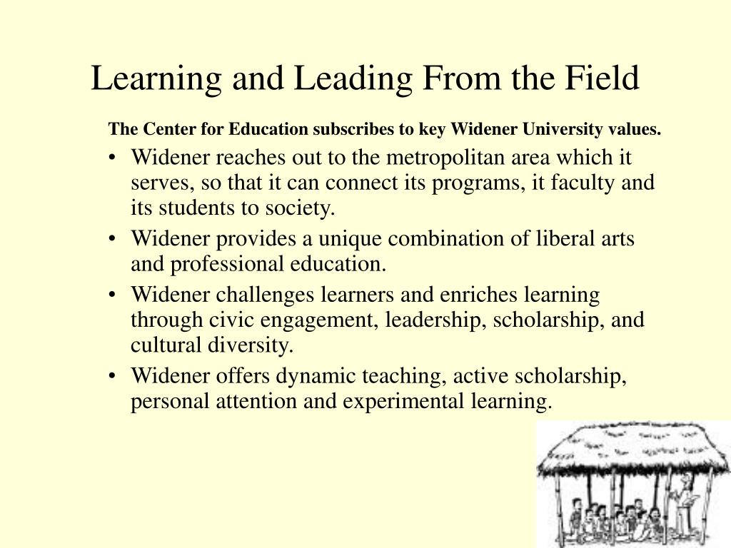 Learning and Leading From the Field