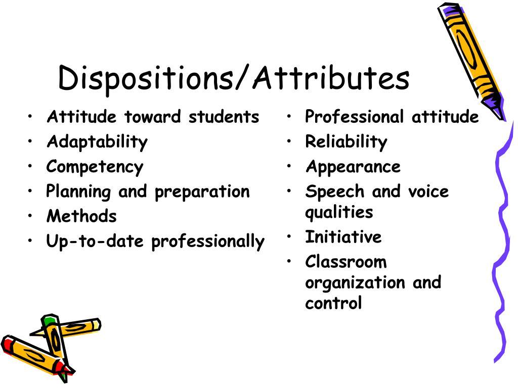 Attitude toward students
