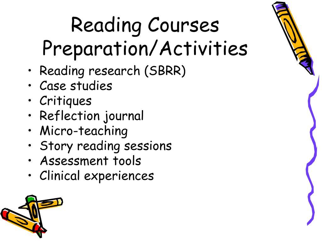 Reading Courses Preparation/Activities
