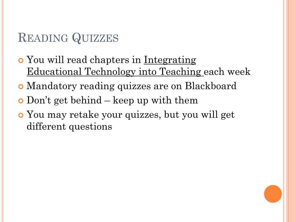 Reading Quizzes