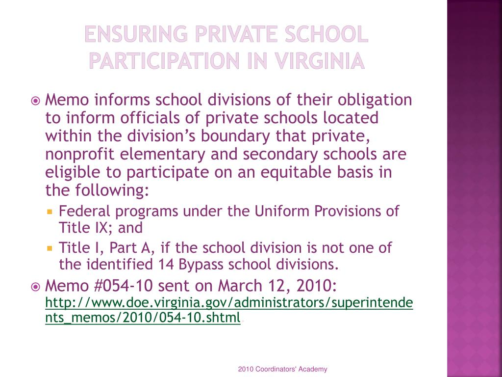 Ensuring Private School