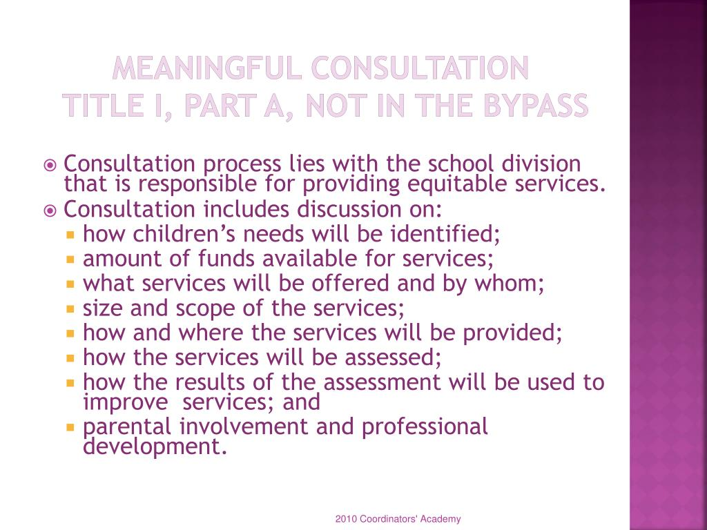 Meaningful Consultation