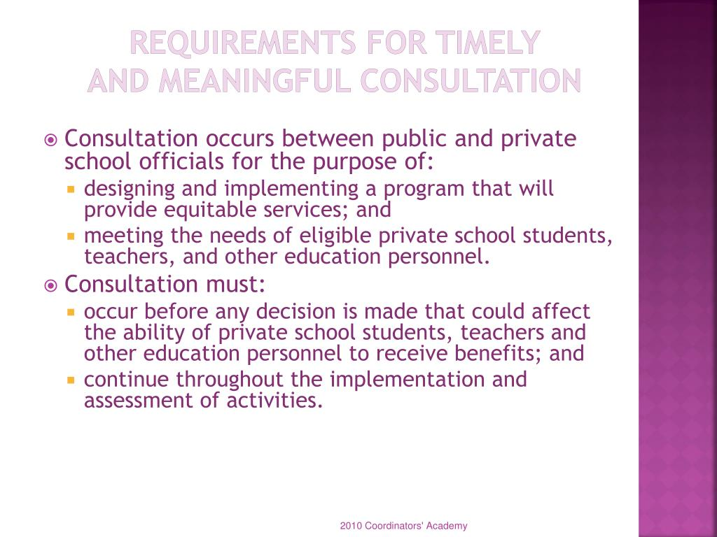 Requirements for Timely