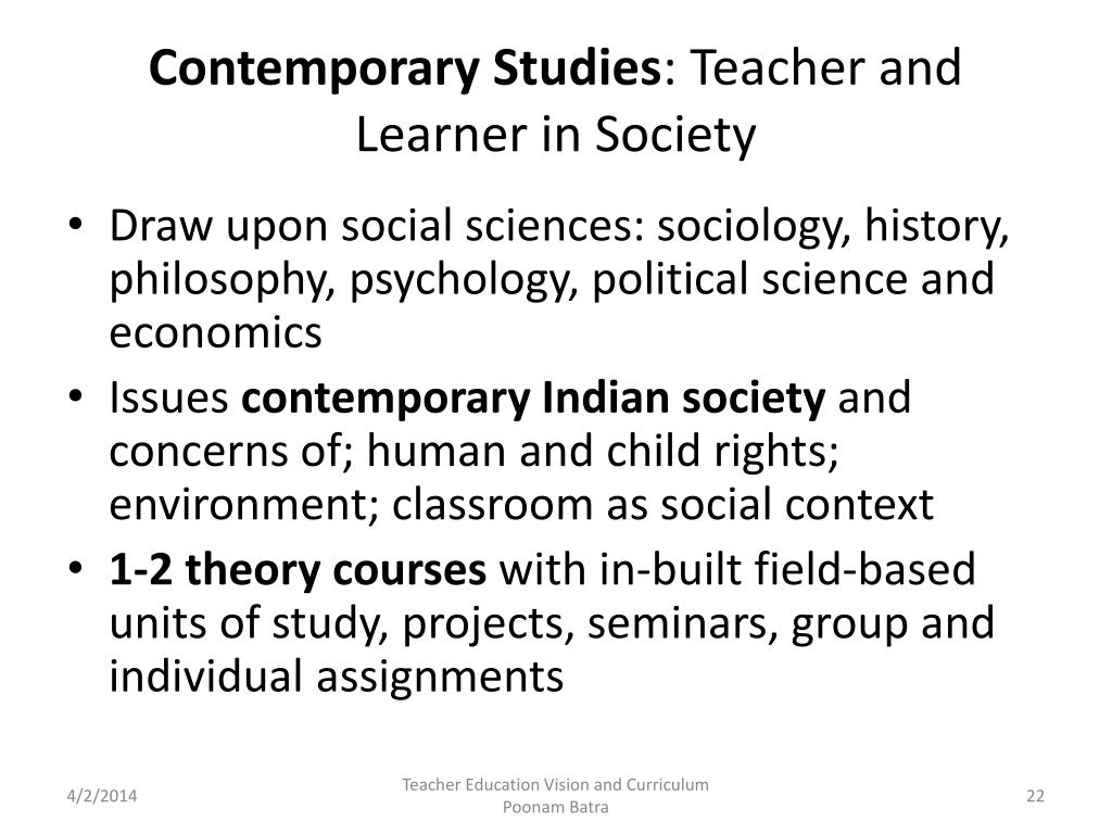Contemporary Studies