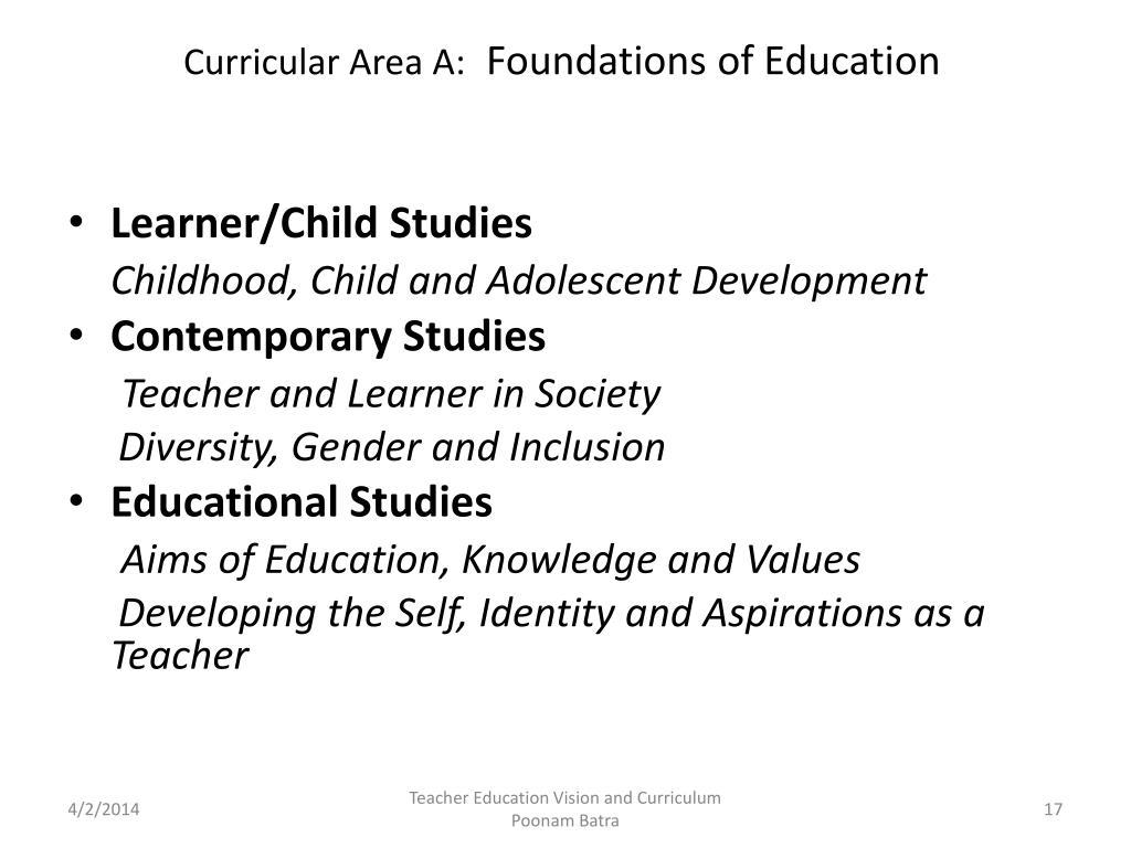 Curricular Area A: