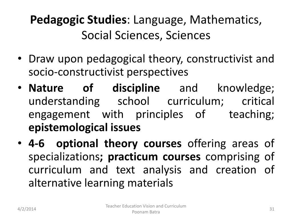Pedagogic Studies