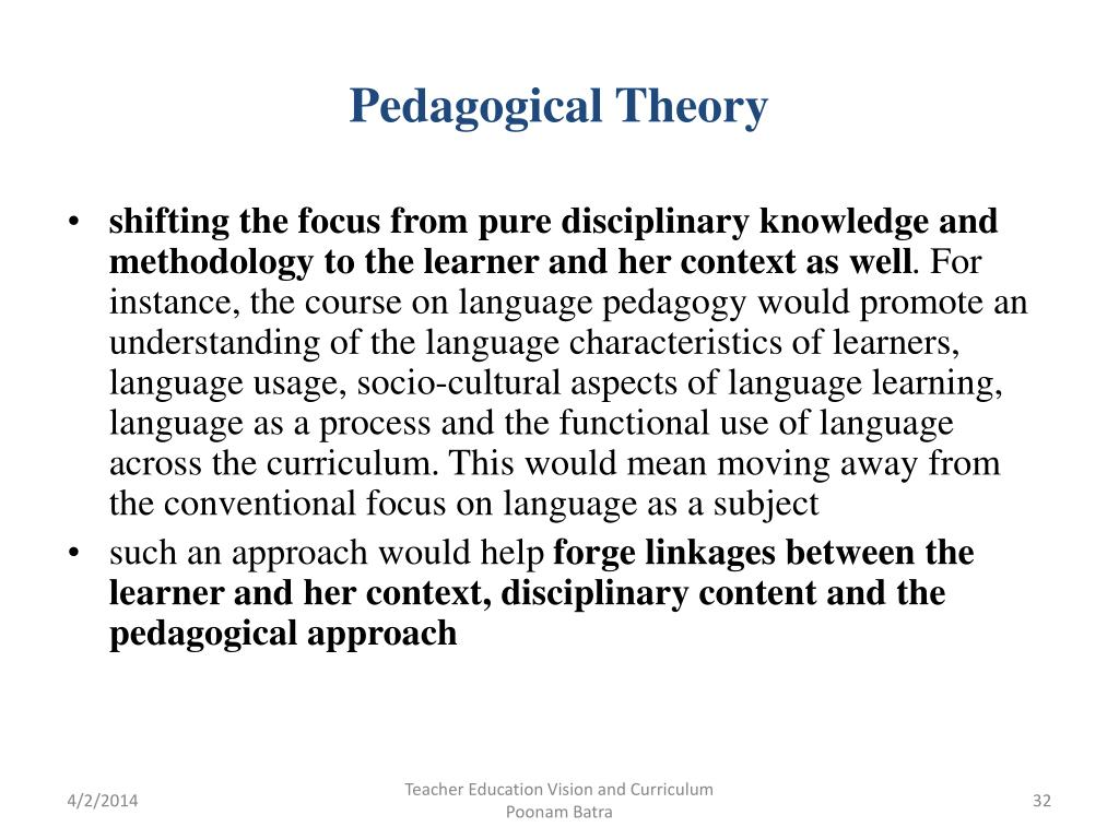 Pedagogical Theory