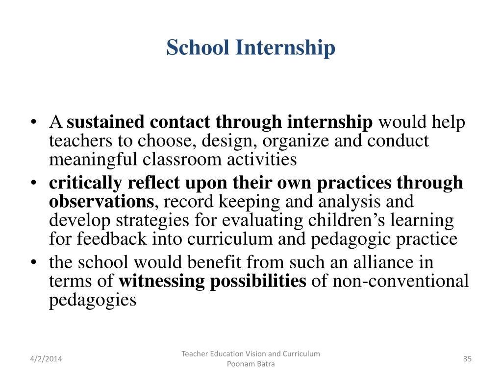 School Internship