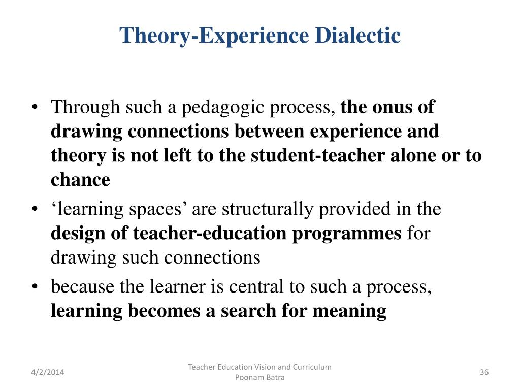 Theory-Experience Dialectic