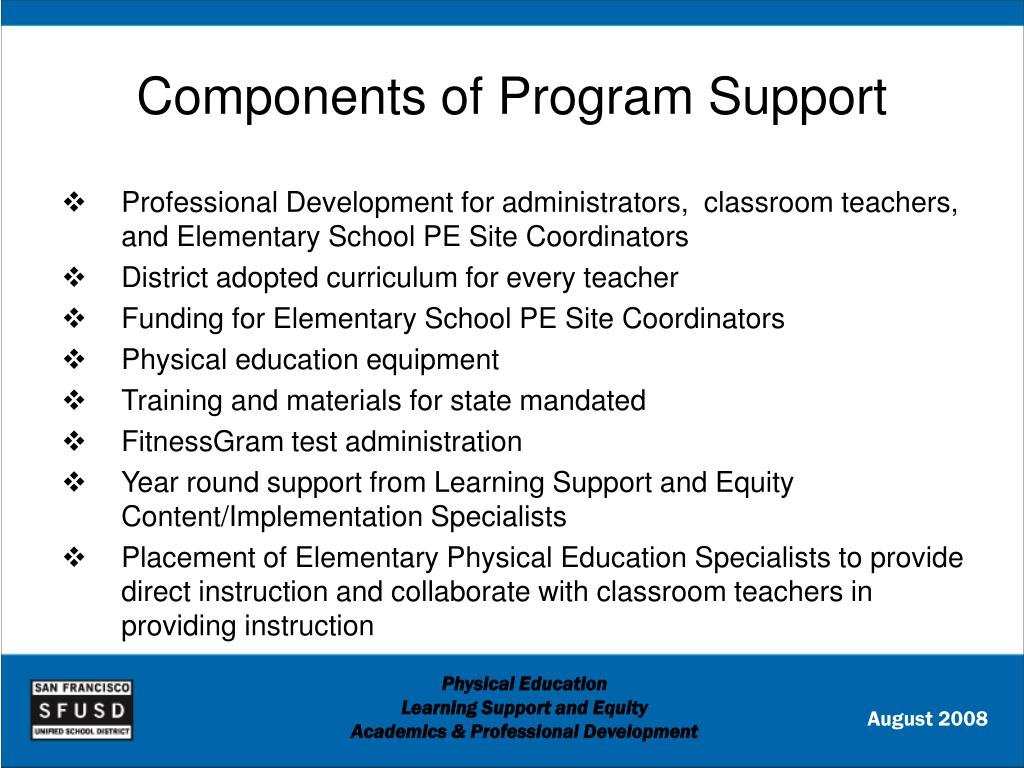 Components of Program Support