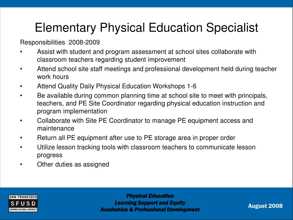 Elementary Physical Education Specialist