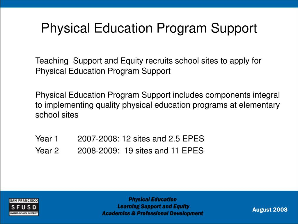Physical Education Program Support
