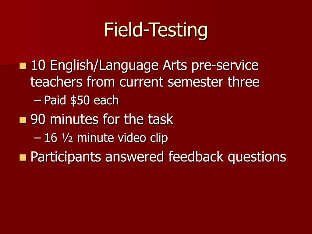 Field-Testing