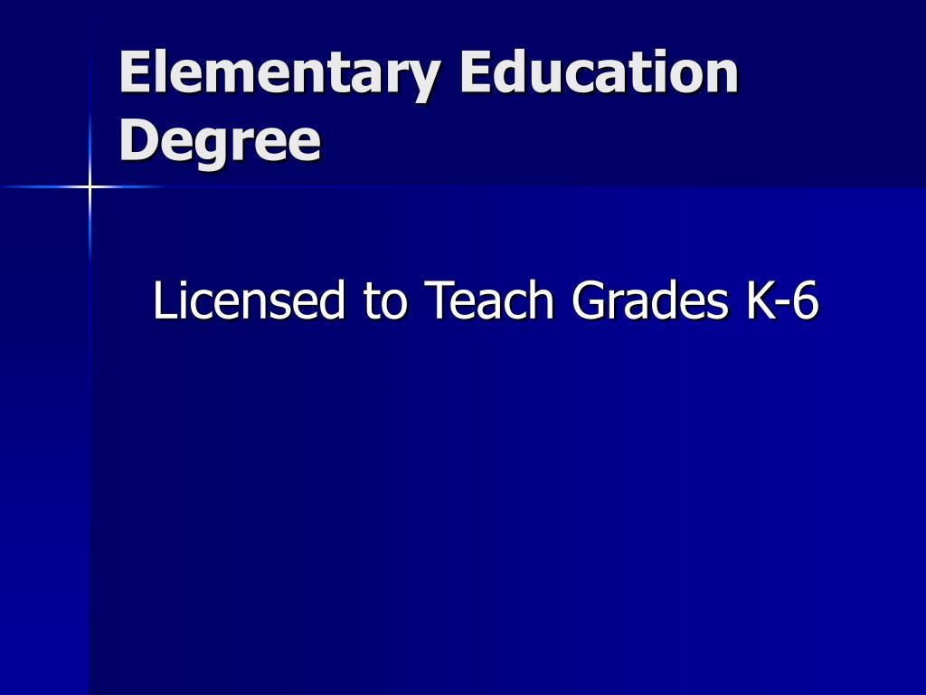 Elementary Education Degree