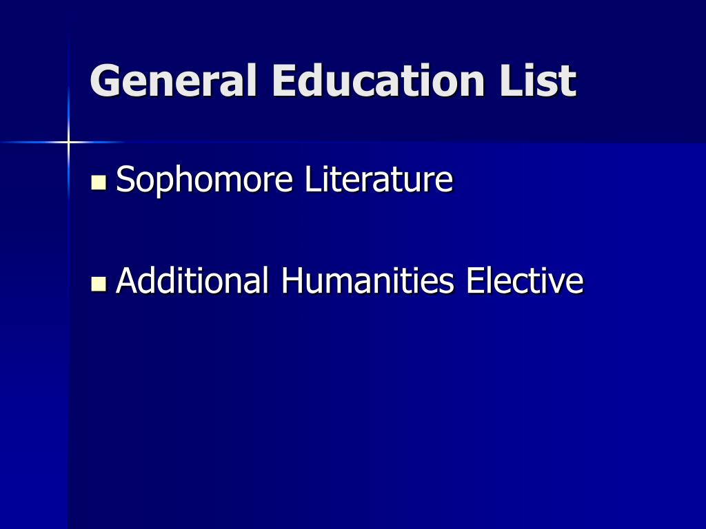 General Education List