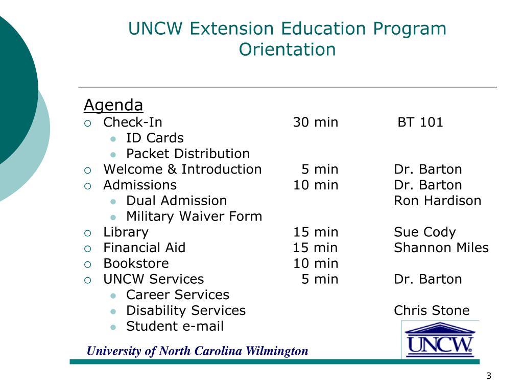 UNCW Extension Education Program