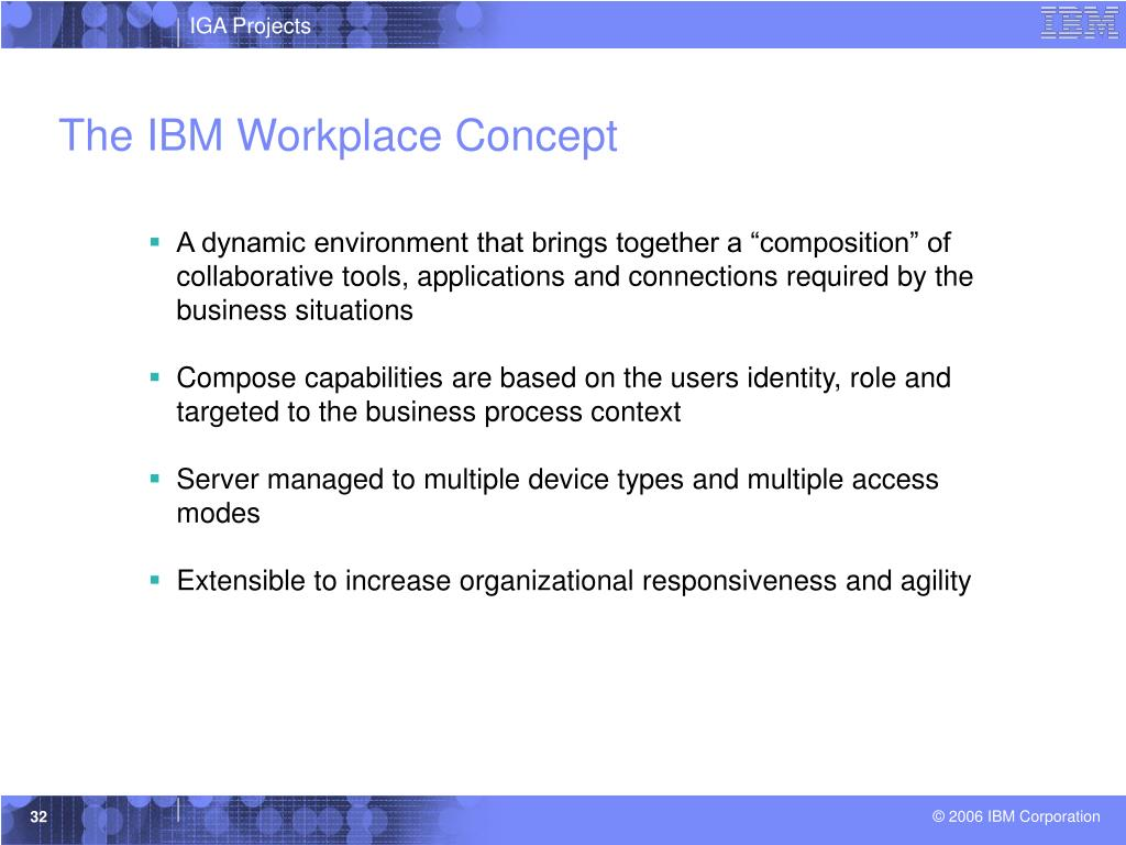 The IBM Workplace Concept
